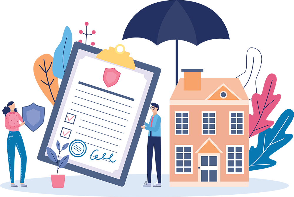 Homeowners insurance illustration